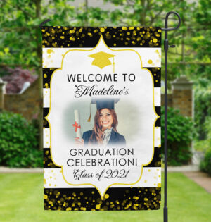 Graduation Celebration Personalized Garden Flag