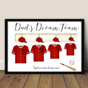 Baseball Dad's Dream Team Personalized Poster