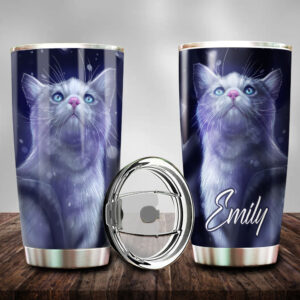 Cat Art Personalized Stainless Steel Tumbler