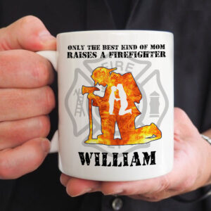 Firefighter's Mom Gift Personalized Coffee Mug