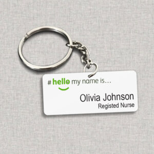 Hello My Name Is Personalized Keychain 6 YZC1904105
