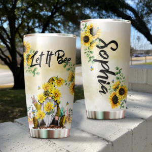 Let It Bee Gnome Personalized Stainless Steel Tumbler