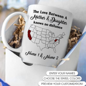 Love Between Mother and Daughter Personalized Coffee Mug
