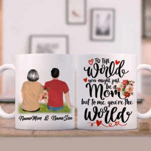 Mother's Day Gift From Son To Mom Personalized Coffee Mug