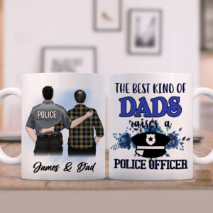 My Favorite Male Police Officer Calls Me Dad Personalized Coffee Mug