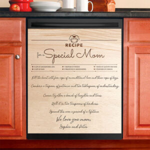 Recipe For A Special Mom Personalized Dishwasher Cover