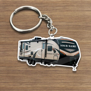 Travel Trailer 1 Personalized Keychain