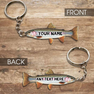 Rainbow Trout Fishing Lovers Personalized Keychain