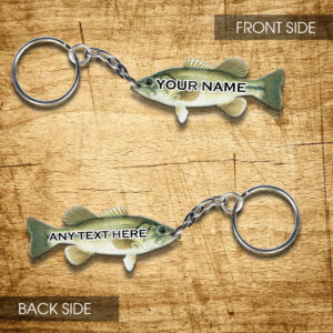 Largemouth Bass Lovers Personalized Keychain