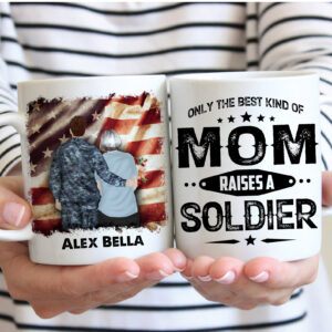 Soldier's Mom Gift Personalized Coffee Mug