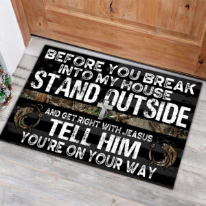 Fishing Before You Break Into My House Rubber Base Doormat