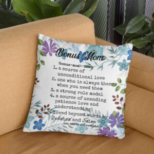 Bonus Mom Step Mom Gift For Mother's Day Personalized Pillow