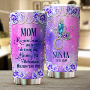 Butterfly Memorial Personalized Stainless Steel Tumbler