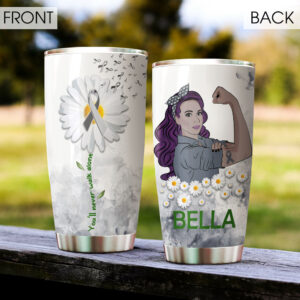 Brain Cancer Personalized Stainless Steel Tumbler
