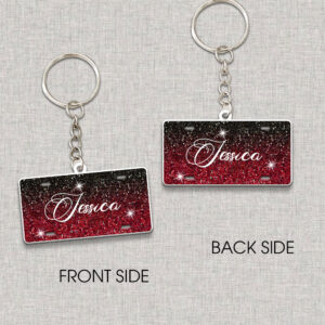 Sparkly Texture Custom Your Name Personalized Keychain