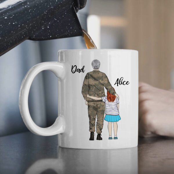 Military Father And Daughter Personalized Coffee Mug