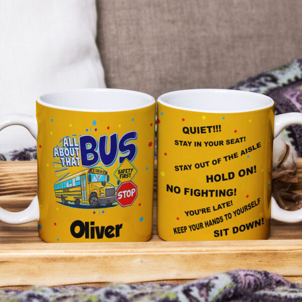 All About School Bus Personalized Mug
